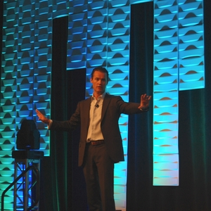Opening keynote speaker Peter Sheahan discusses turning change into competitive advantage.