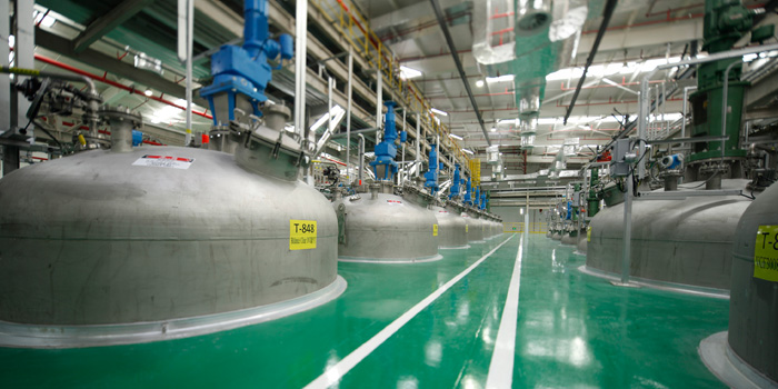 Interior of Axalta's new waterborne coating manufacturing facility in the Jiading district of Shanghai, China. (Photo: Business Wire)