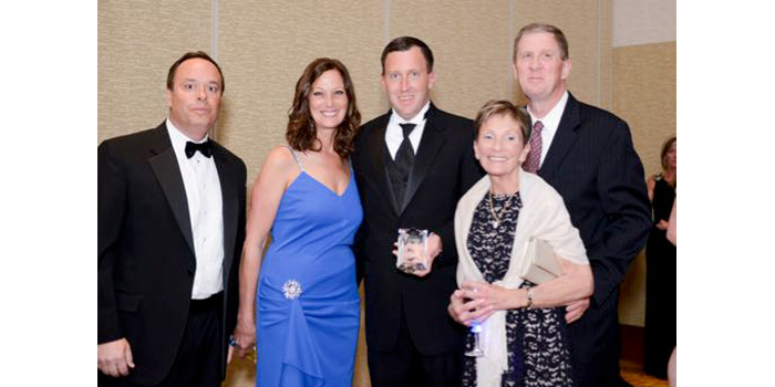 From Left: Greg Dentino, Make-A-Wish Indiana Board Chair, Charlotte Liss, Corey Liss, Kathy Liss and Tom Liss.