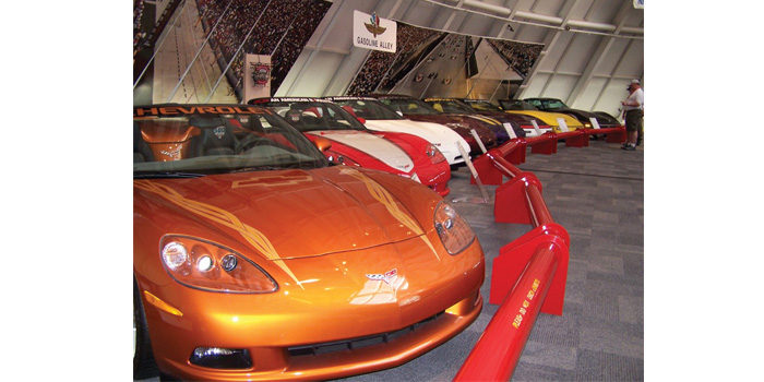 Corvette heaven at the GM assembly plant in Bowling Green, Ky. (Photo by Karl Kirschenman)