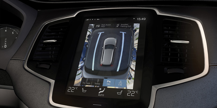 Photo courtesy of Volvo. Volvo's surround view, one of an increasing amount of collision avoidance systems being installed in vehicles today.