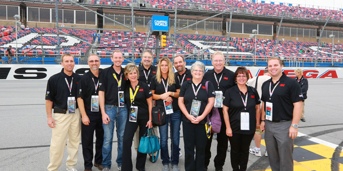 3M AAD hosted winners of a sales incentive contest for 3M body fillers at the Talladega race in October that included a weekend in Birmingham and a special Sunday at the track that included pace car rides, a garage tour, celebrity visits and more.