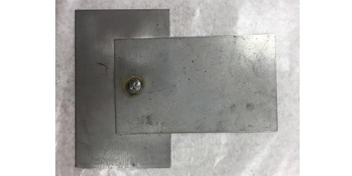 Plug weld thin on thick.