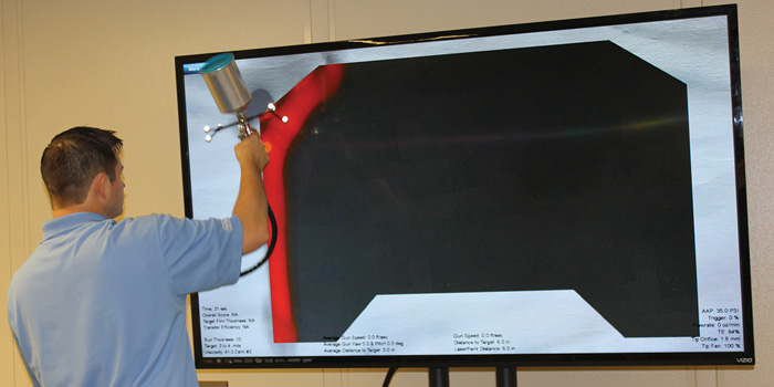 Trying out VirtualPaint at the Iowa Waste Reduction Center, University of Northern Iowa.
