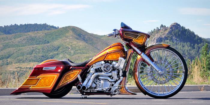 Jerry Covington's winning motorcycle.