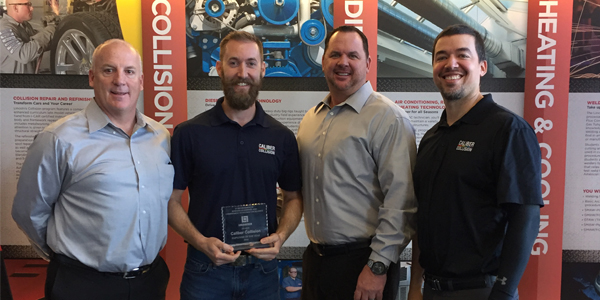 Caliber Collision Recognized As Employer Of The Year By Lincoln College Of Technology
