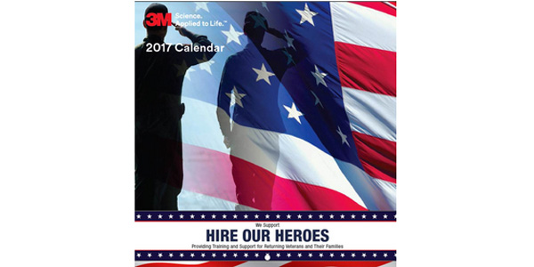 3M Hire Our Heroes Calendar