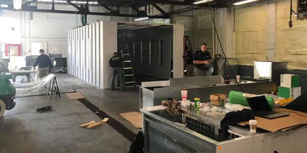 Auglaize Auto Body Posts Pictures of New Paint Booth Paid