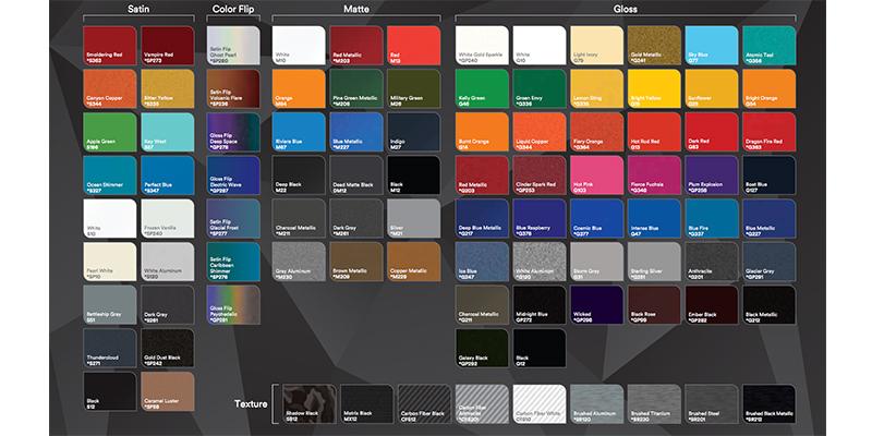 3m Adds Vinyl Wrap Colors