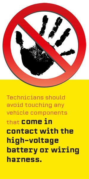 avoid battery wire harness
