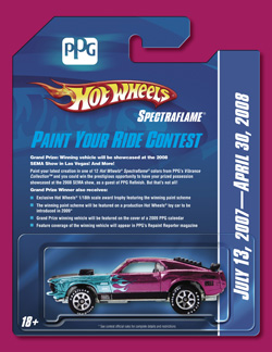 Finalists Named in PPG Hot Wheels Spectraflame Paint Your